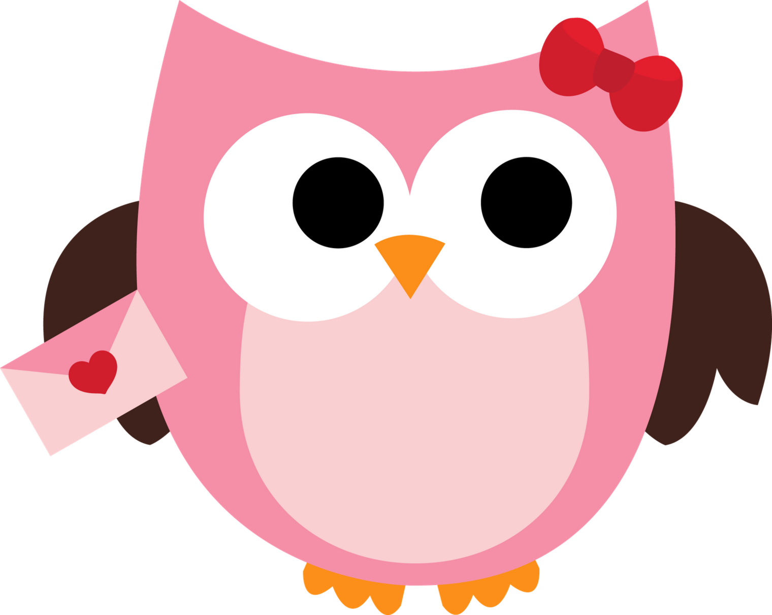 collection of cute. Owls clipart pink