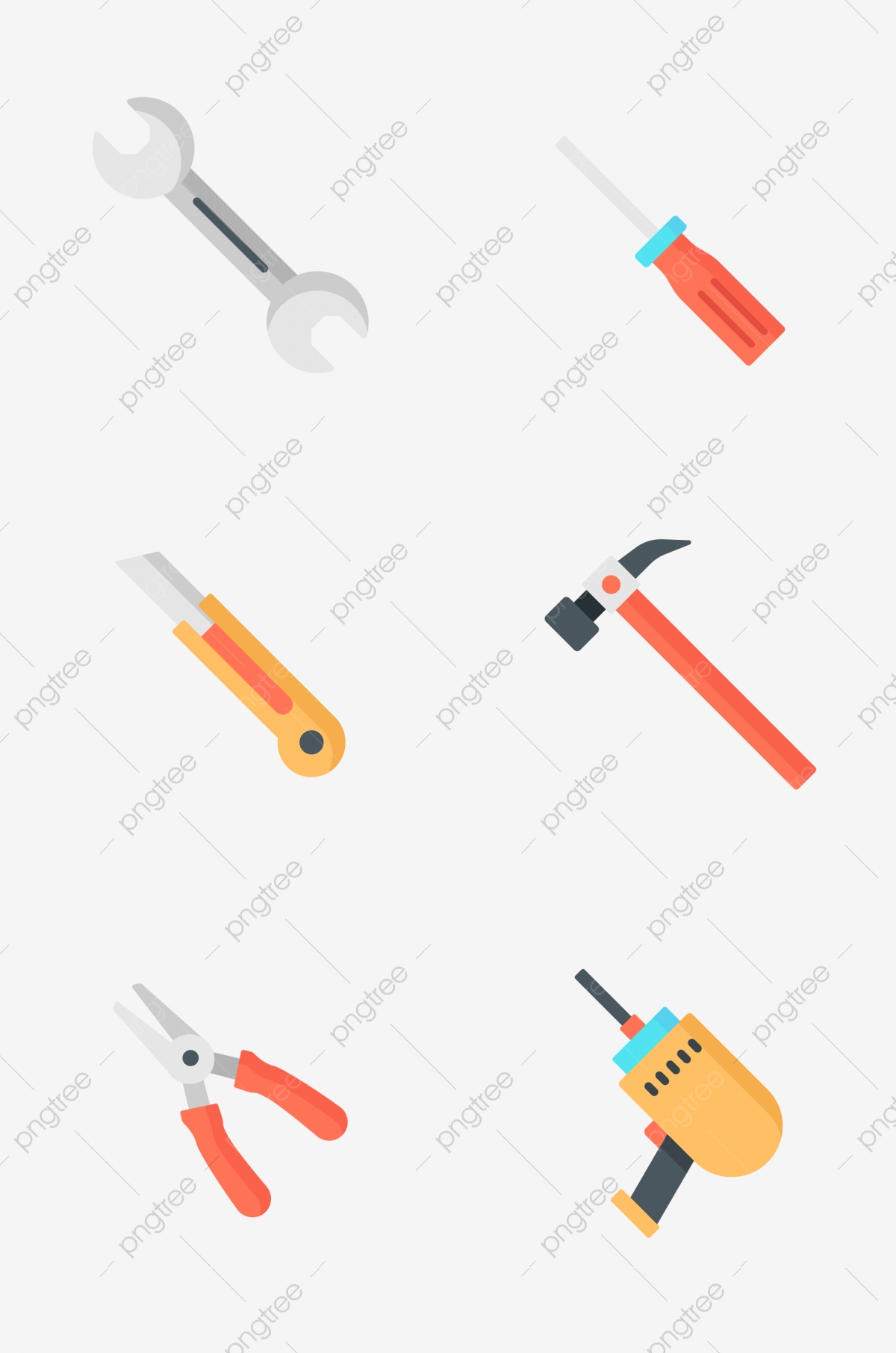 Household items tool wrench. Hammer clipart prototype