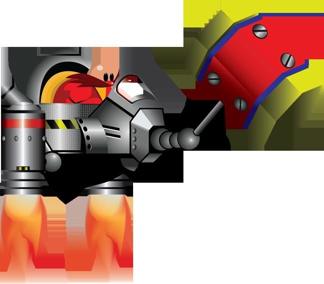 Badniks bosses art sonic. Clipart hammer prototype