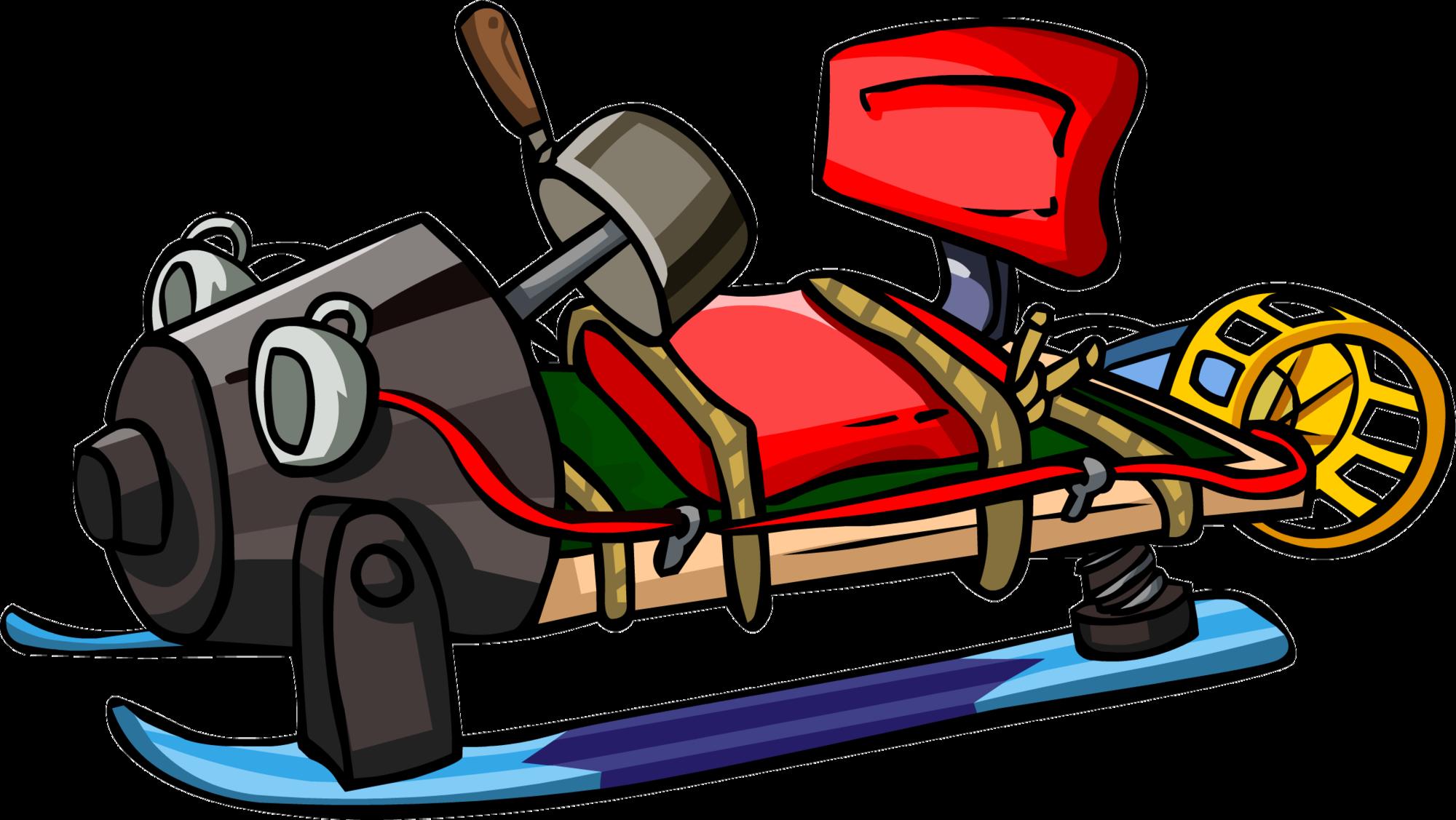 Missions clipart secret mission. Prototype sled club penguin