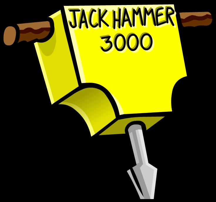 Hammer clipart prototype. Jackhammer club penguin rewritten