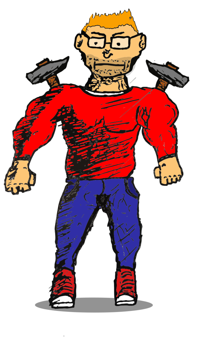 The by a credhammer. Clipart hammer red hammer