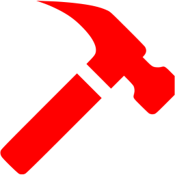Icon free icons . Clipart hammer red hammer