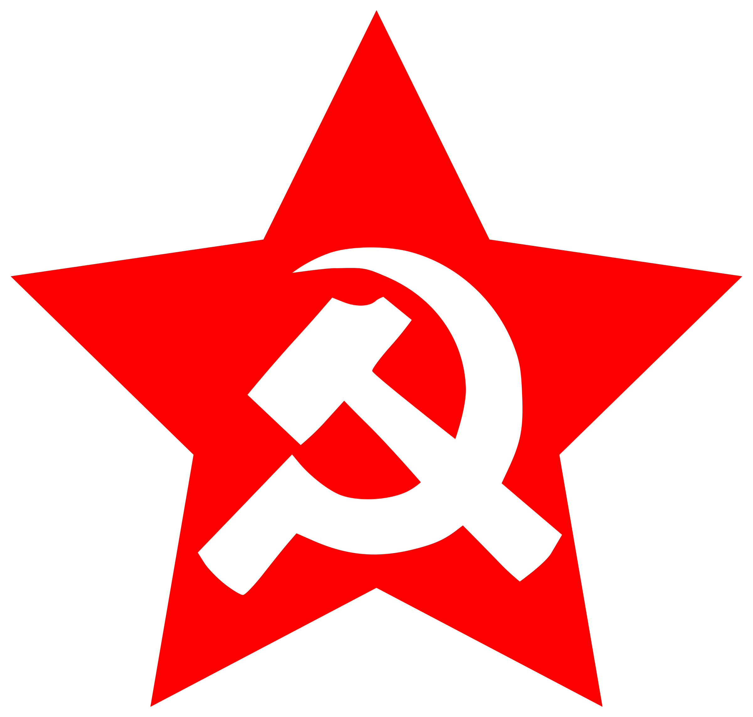 And sickle in star. Clipart hammer red hammer
