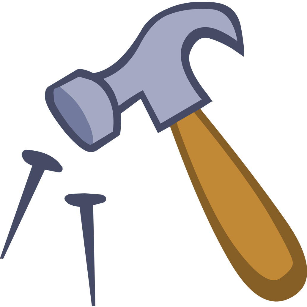 clipart hammer red handle