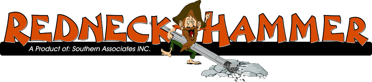 Redneck down the hole. Clipart hammer rock hammer