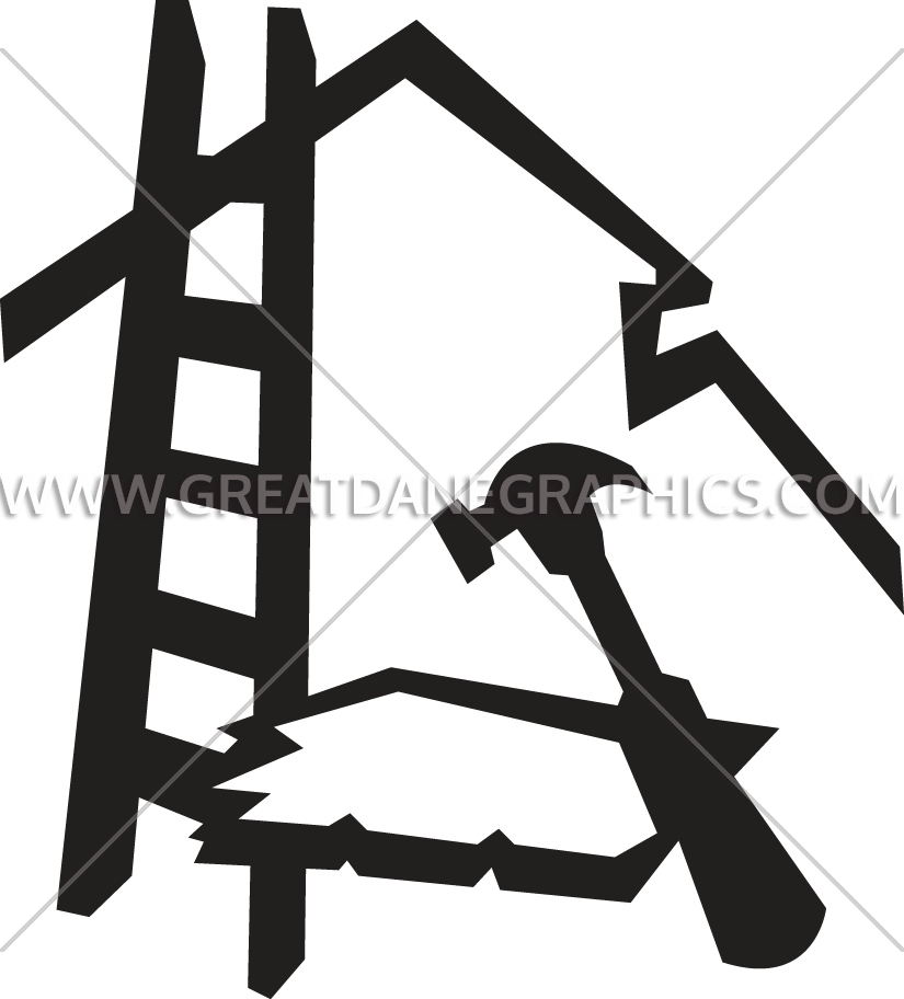 Equipment production ready artwork. Clipart hammer roofing tool