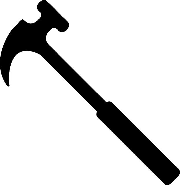 Clipart hammer shoemaker tool. Free photo black repair