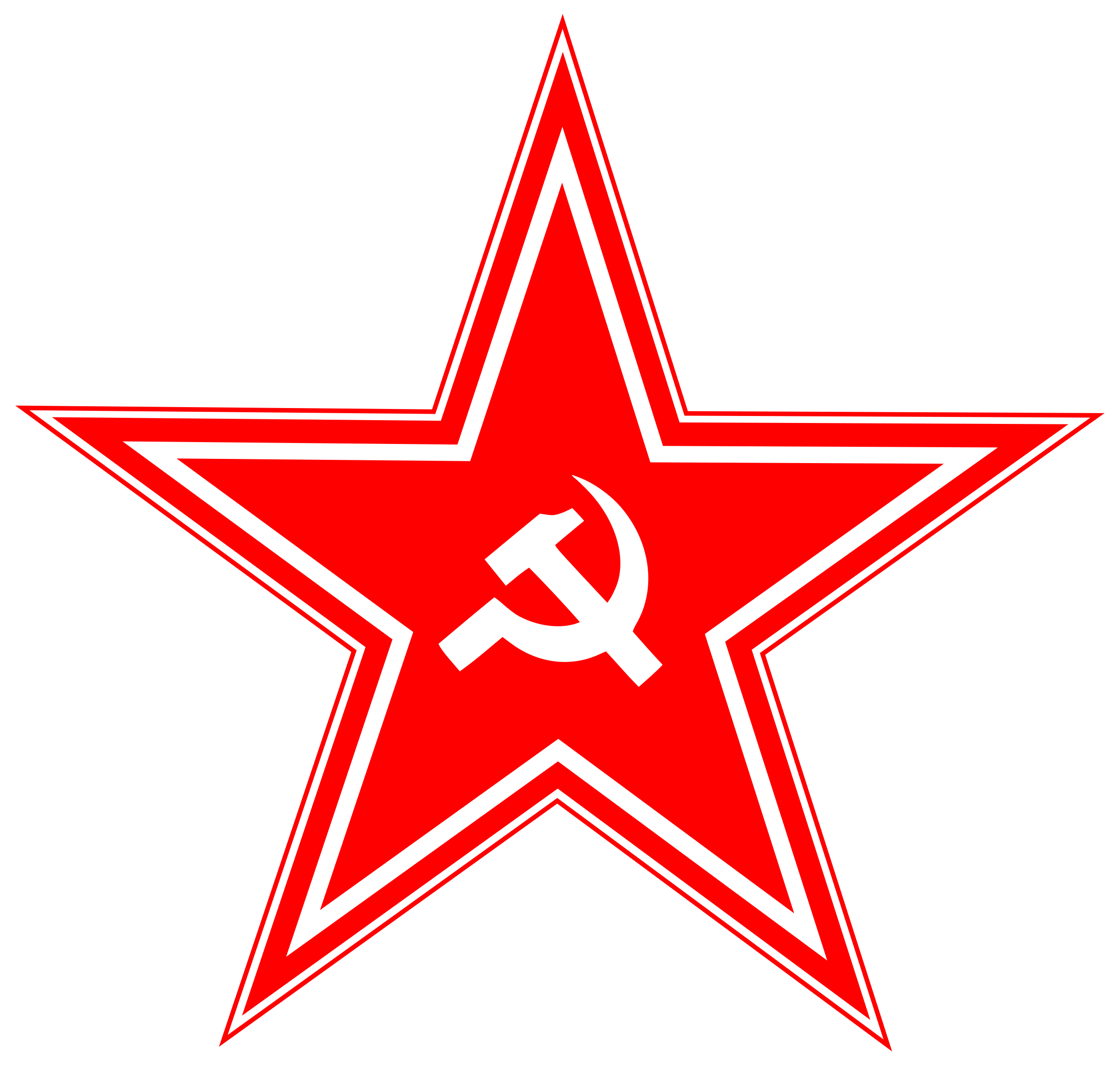 Clipart hammer sickle. And in star big