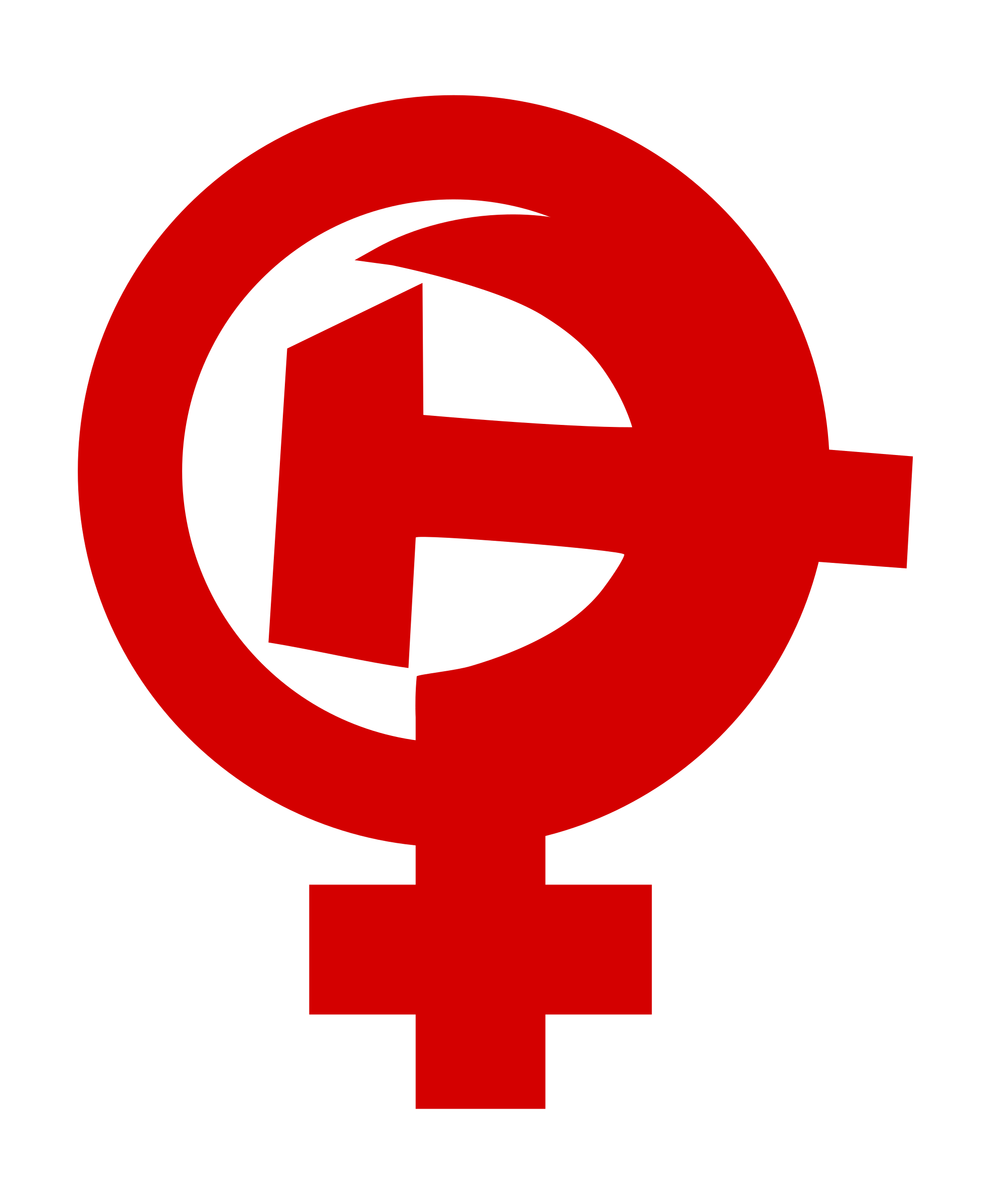 Feminism female symbol big. Clipart hammer sickle