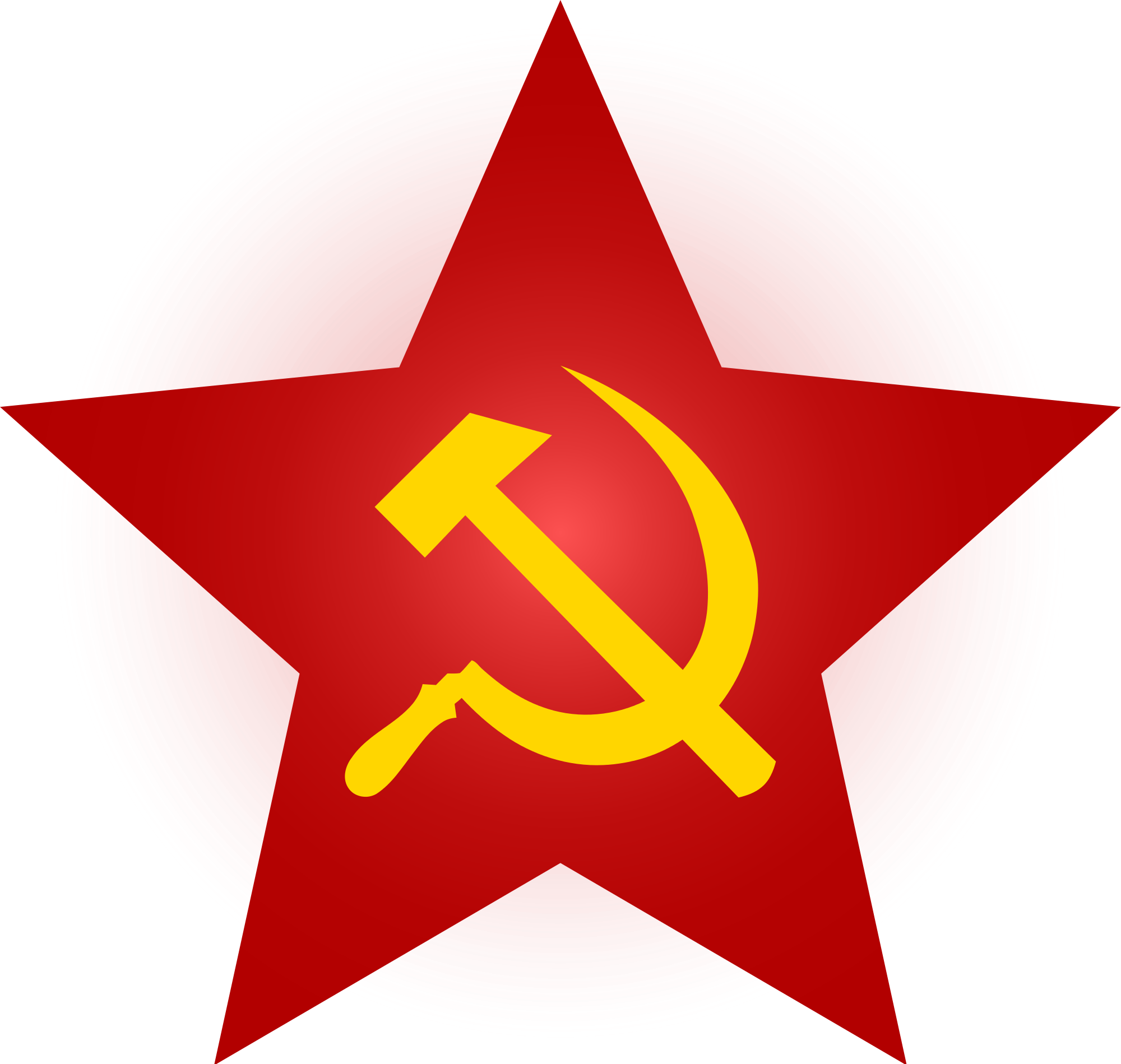 File and red star. Clipart hammer sickle