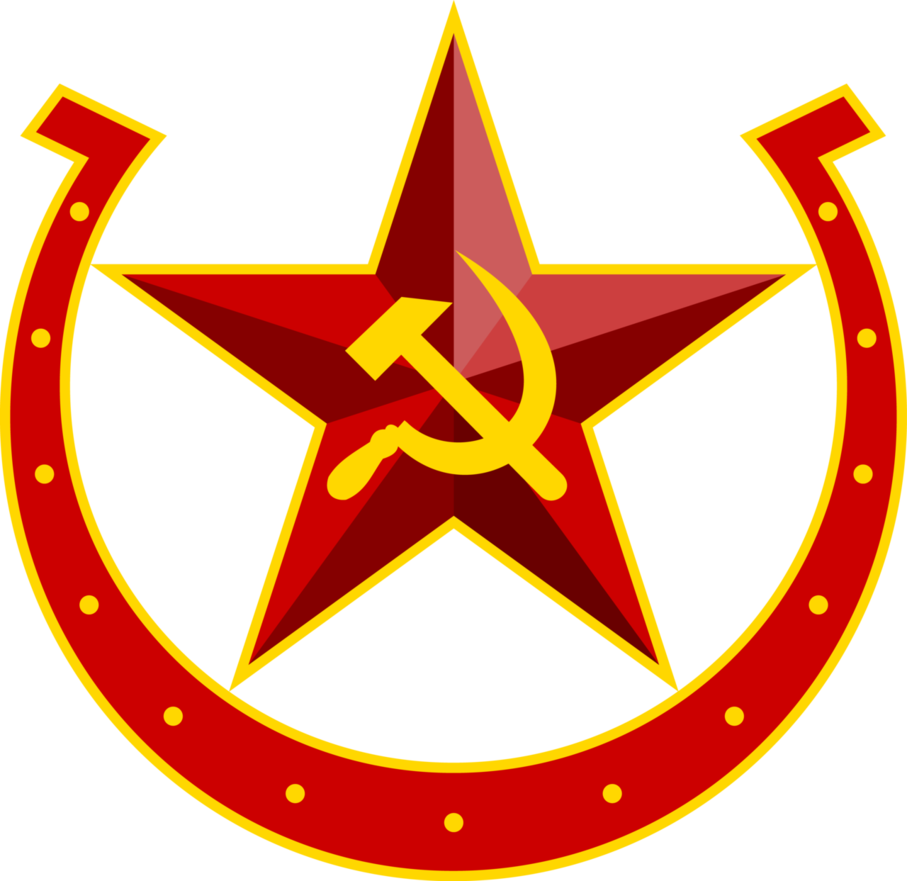 Clipart hammer sickle. Soviet equestria horseshoe emblem