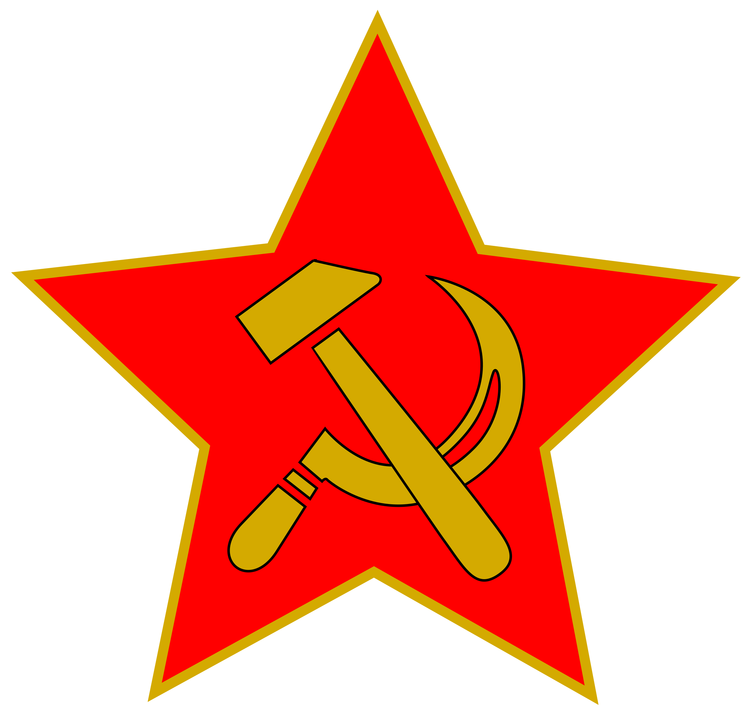 And in star big. Clipart hammer sickle