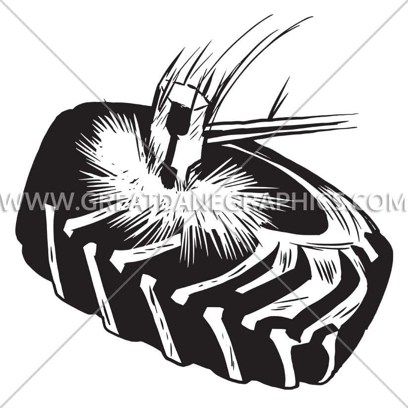 Clipart hammer sketch. Tire production ready artwork