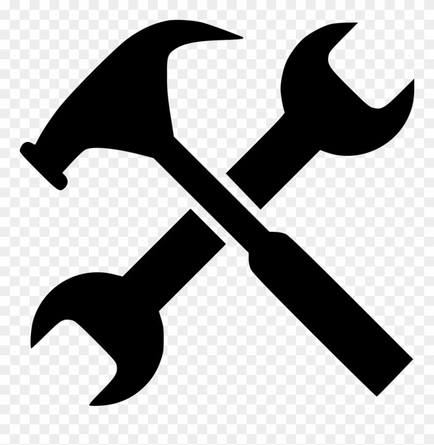 Gear job options service. Clipart hammer spanner