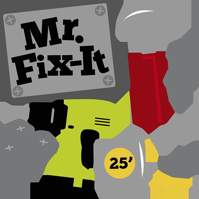 Mr fix it svg. Drill clipart boy
