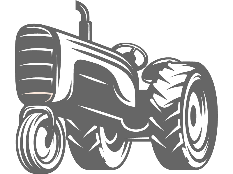 Tractor steam engine pencil. Clipart hammer vintage