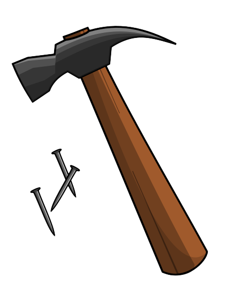 Nails clipart hammer nail.  clip art clipartlook