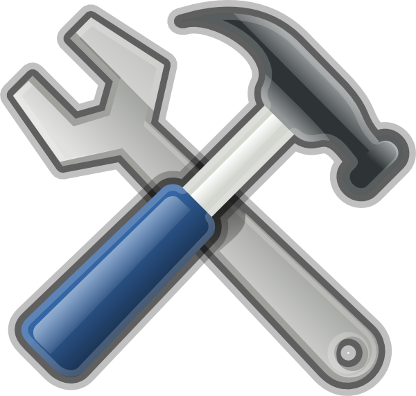 Hammer clipart carpentry tool. Andy tools spanner clip