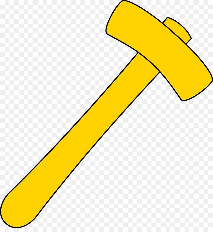 Cartoon line font transparent. Clipart hammer yellow hammer