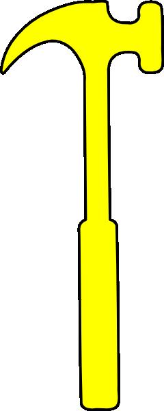 Clipart hammer yellow hammer. Clip art at clker