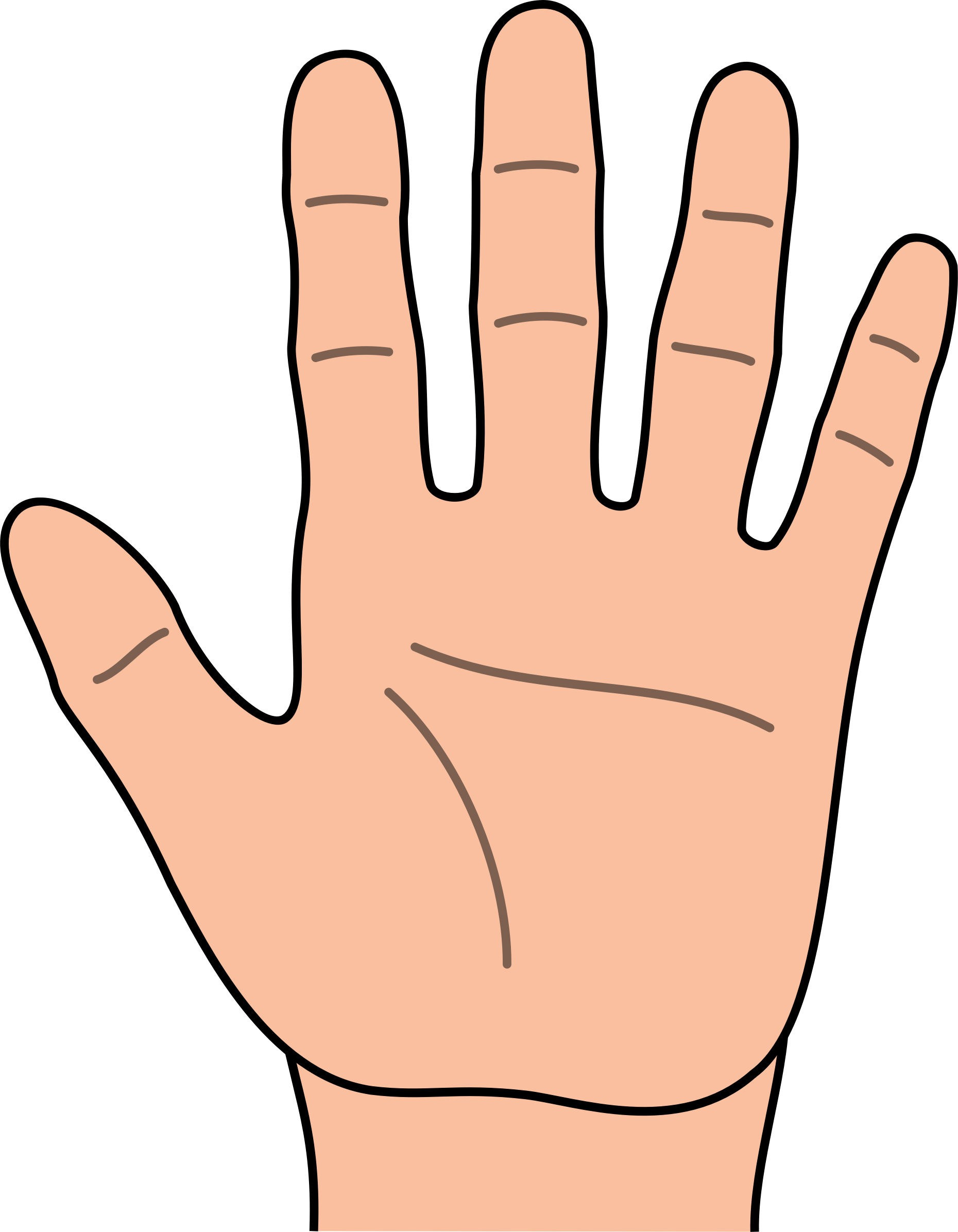 Hands clip art free. Fingers clipart left hand