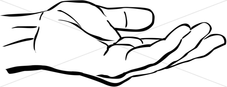 Outstretched inspirational. Hand clipart