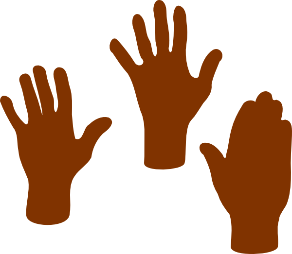 Thumb clipart brown. Open praying hands panda