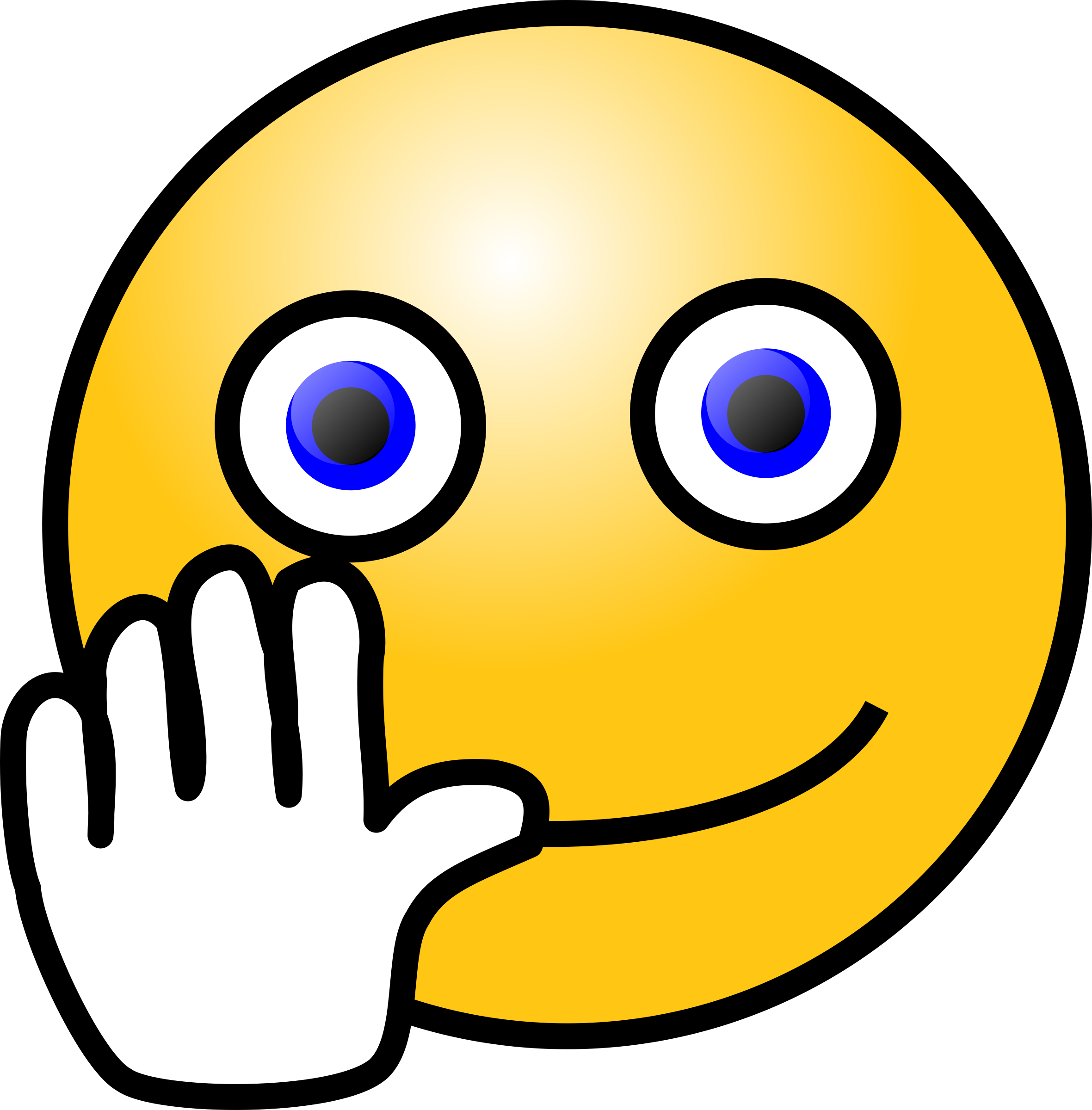 Clipart wave animated. Emoticons hand waving face