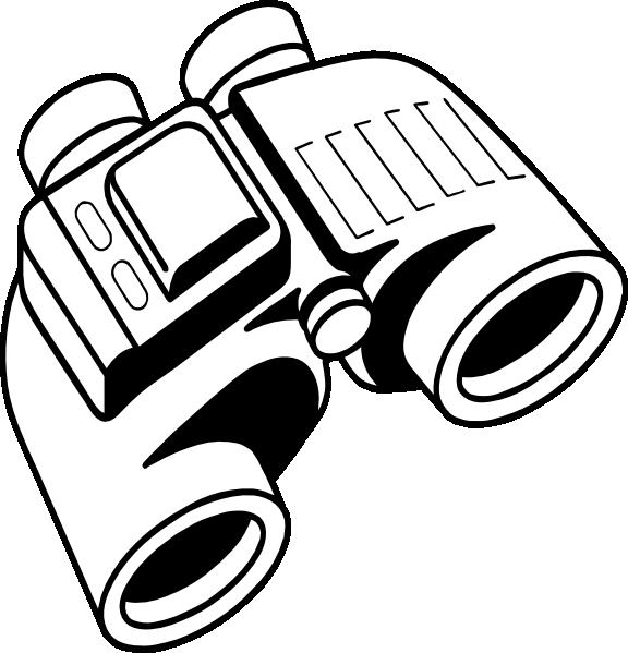 clipart hand binoculars