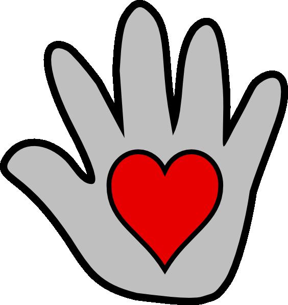 Kissing clip art at. Hand clipart heart