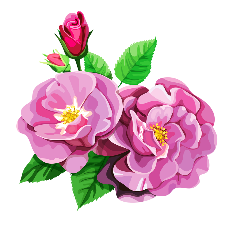 Bouquet cl part transparent. Rose clipart animated
