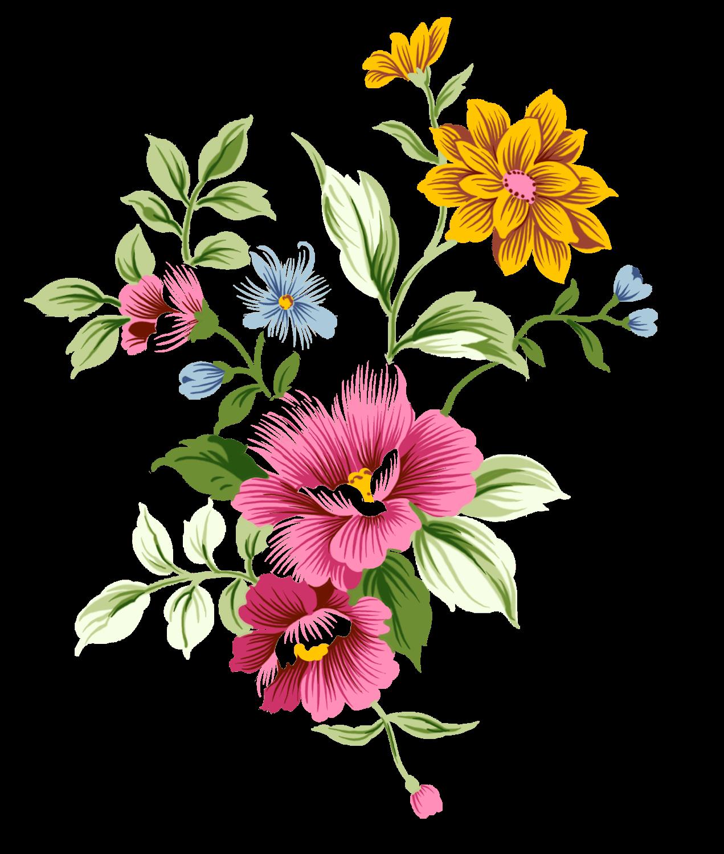 Hand clipart bouquet. Art nouveau flowers decoupage