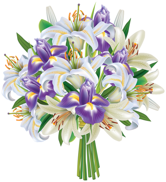 Thanks clipart bouquet. Purple iris flowers and