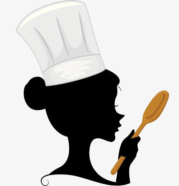 A woman with spoon. Cook clipart personal chef