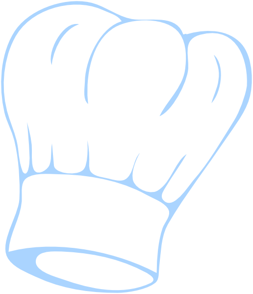 Hat blue clip art. Hand clipart chef