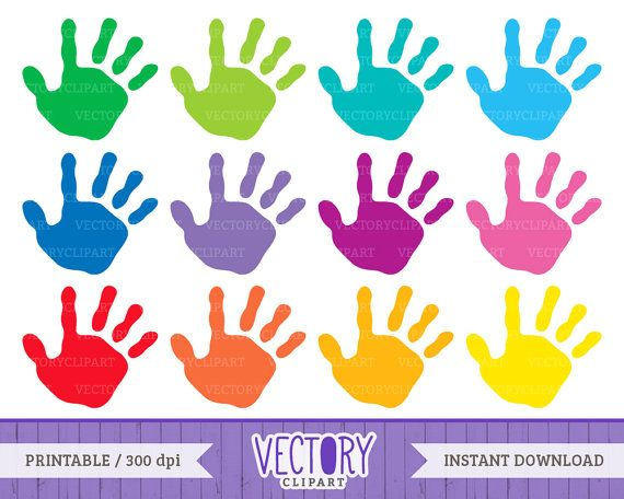 handprint set kids. Hand clipart children's