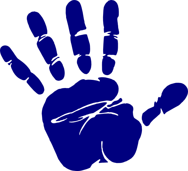 Clipart hand circle. Blue print clip art