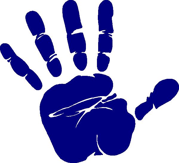 Blue print clip art. Number 1 clipart hand