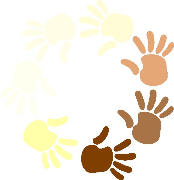 Hands clipart circle. Multicultural at getdrawings com