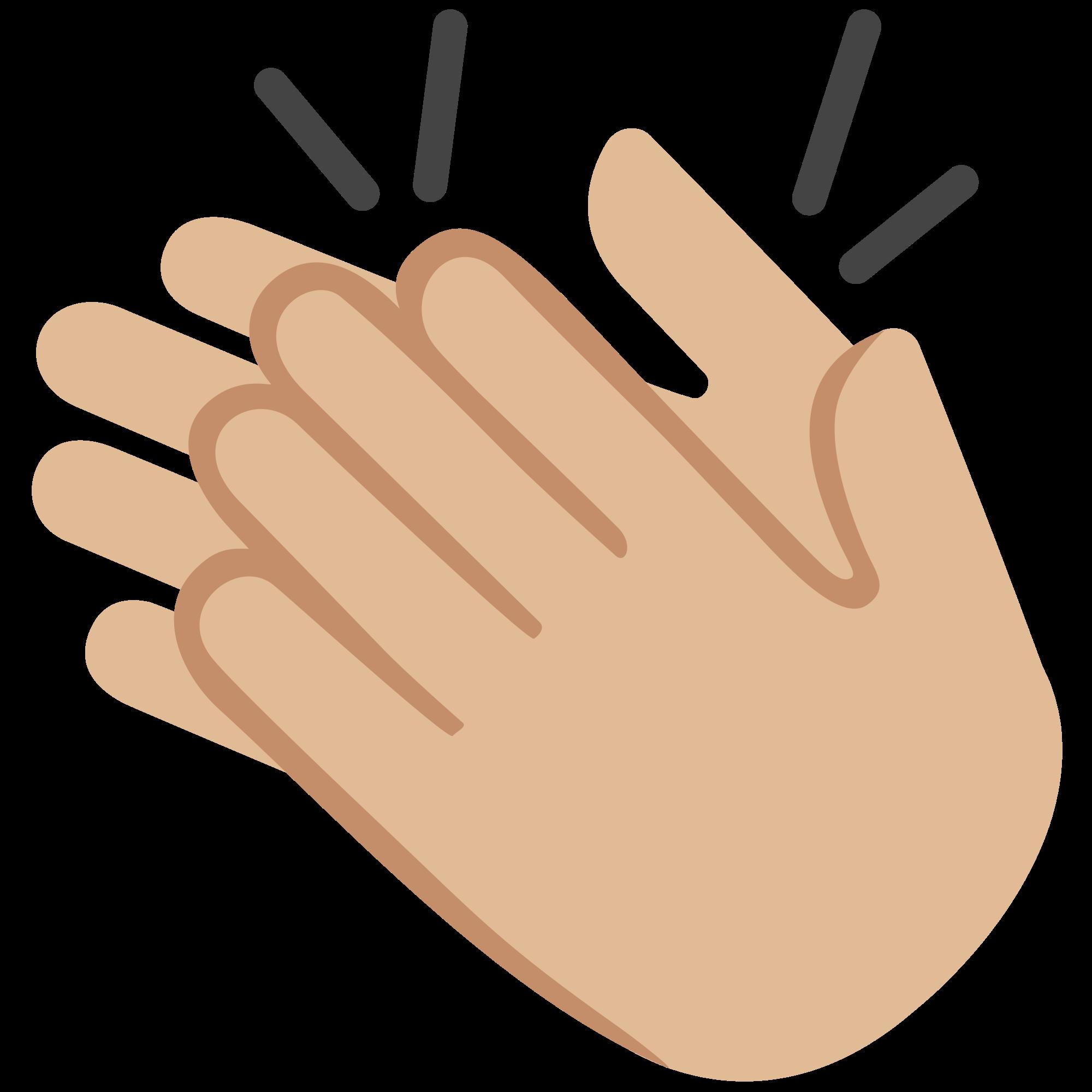 Clipart hand clapping. File emoji u f