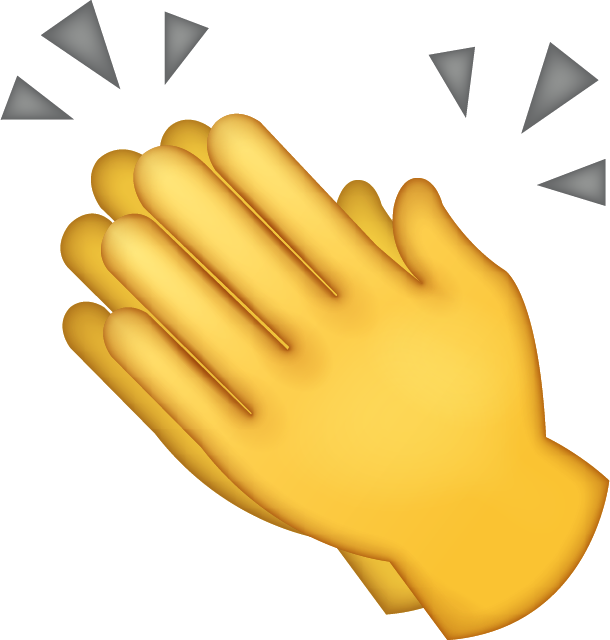 Clipart hand clapping. All emoji products island