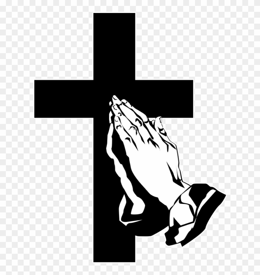 Funeral clipart prayer. Hand praying hands with