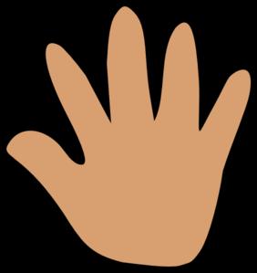 Clipart hands cute. Handprint large hand medium