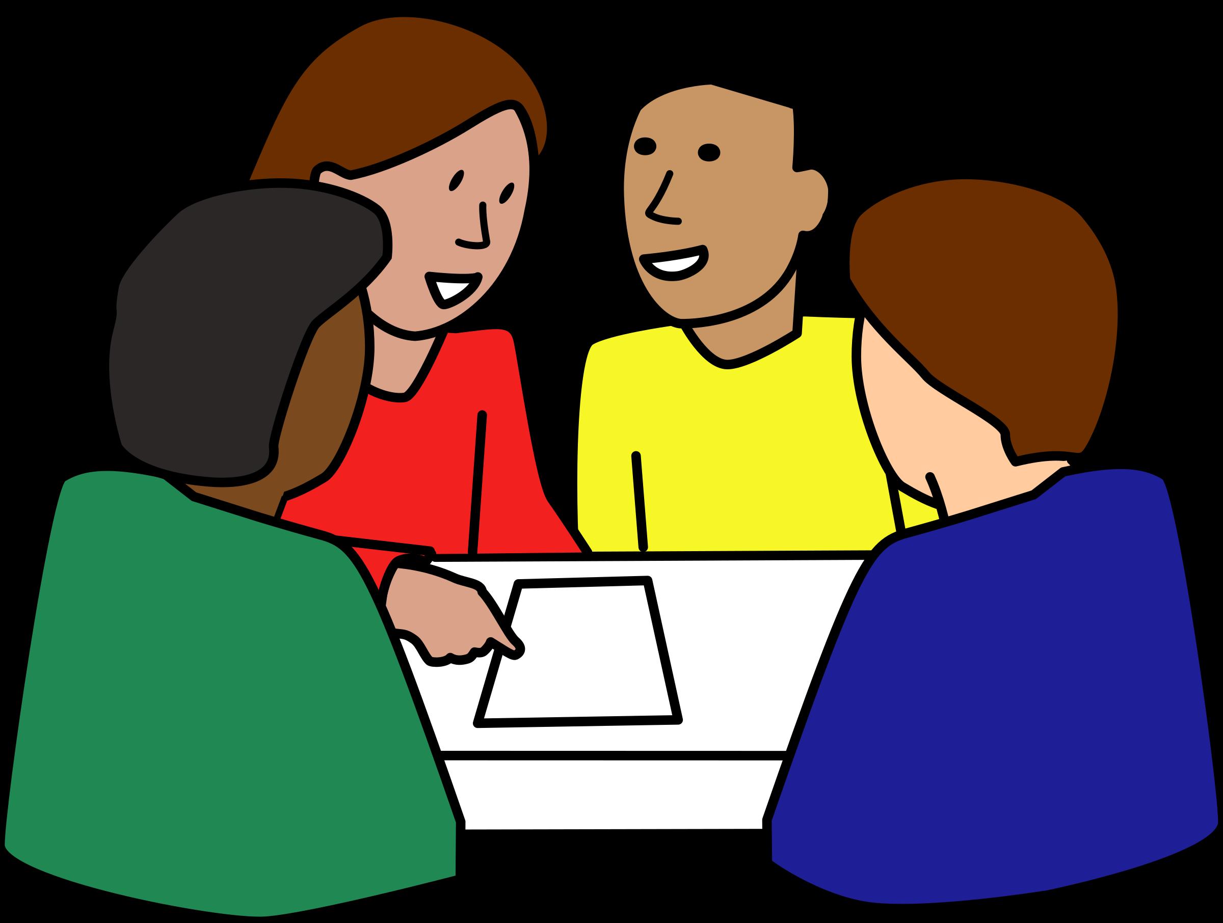 Clipart teacher strategy. Diverse student group big