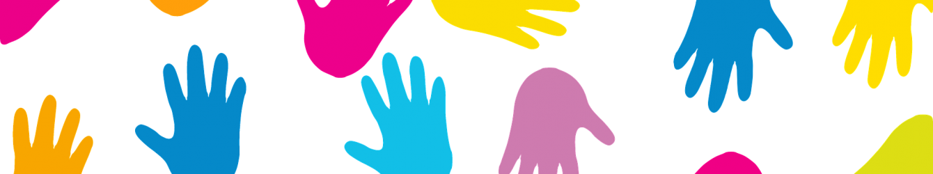 Adults with disabilities group. Hands clipart diversity