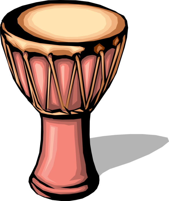African djembe drum vector. Drums clipart percussion instrument