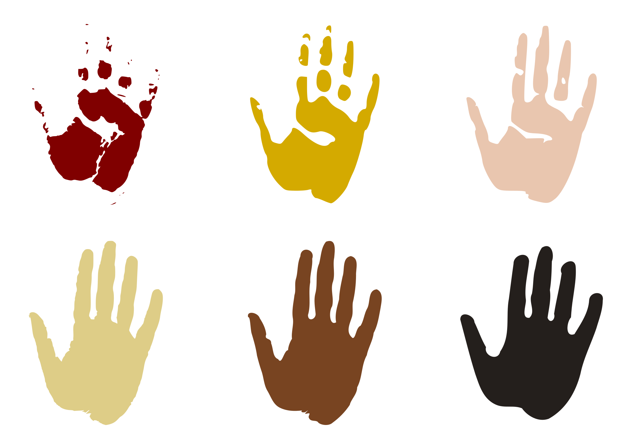Hand prints big image. Paint clipart handprint