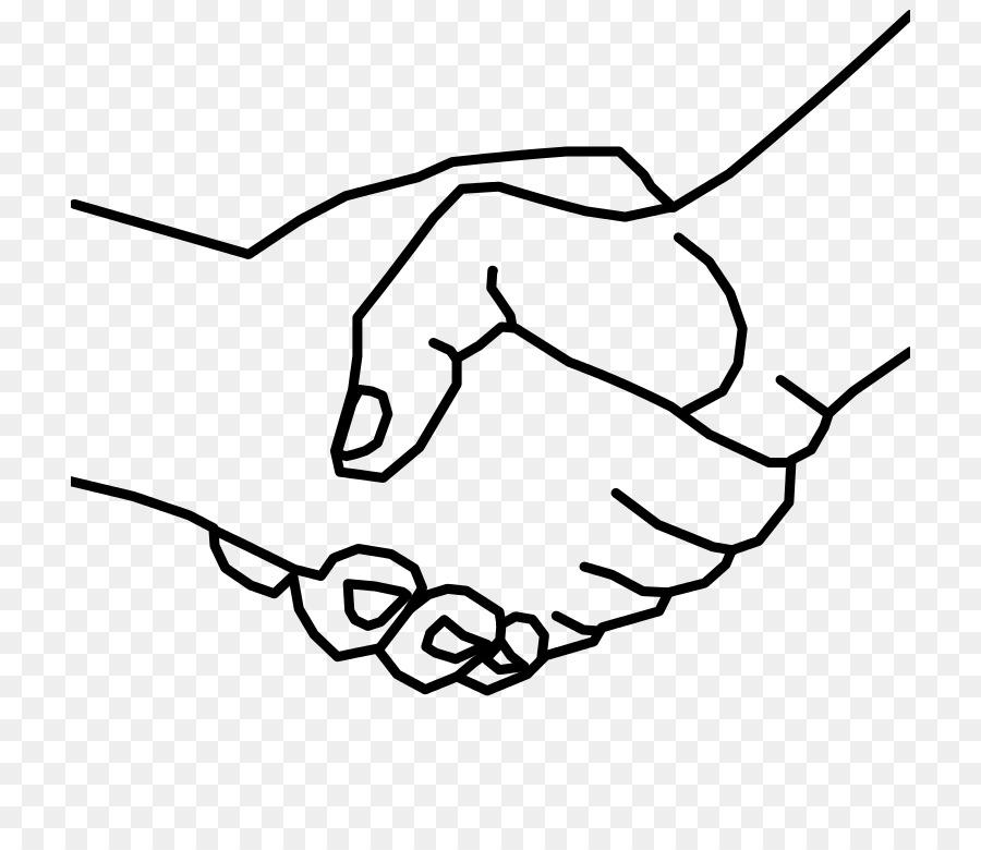 Friend clipart hand. Black line background transparent