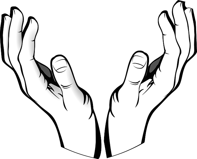 Skin clipart outstretched hand. Open hands of god